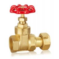 China Forged Brass Gate Valve DN32 DN40 CW617 Water Control Valve With Thread WRAS wholesale