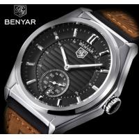 China Benyar Fashion Men  Date Display Leather Band Casual Wrist Watches BY-5125M wholesale