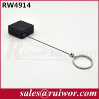 China Demountable Key Ring Plastic Pull Box With Retractable Stainless Steel Lanyard wholesale