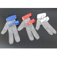 China Safety Protection Stainless Steel Wire Mesh Cut Resistant Gloves Three Fingers wholesale