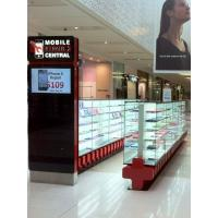 China Self service electronic shopping centre custom retail mall unit jewelry showcase kiosk stand design wholesale