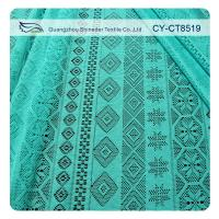 China Retail cheap fabric polyester geometric lace AZO free garment material (CY-CT8519) wholesale
