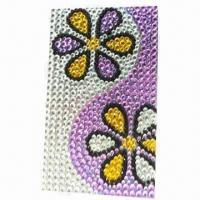 China Crystal Mobile Phone Sticker, with Glue and without No Remainder wholesale