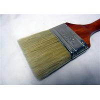 China White Bristle Flat Round Paint Brush For Oil Based Paint / Wall Painting wholesale