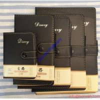 China A5 Size Leather Diary Personalized Soft Cover Notebook with Button Closure wholesale