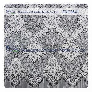 China White Nylon Polyester Lace Fabric wholesale