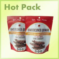 Wholesale Organic Quinoa / Pomegranate Dark Chocolate Packaging Pouches With Red Printing from china suppliers