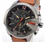 China Wholesale NEW DIESEL DZ4343 Mega Chief Mens Watch Brown Leather Black Dial Chrono DZ4343 wholesale