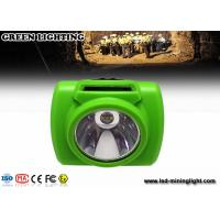 Quality LED lighting new design 3.7V 300mA cordless digital mining headlamp with OLED for sale