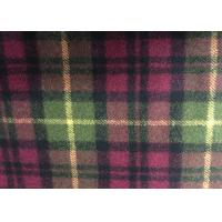 China Super Soft Woolen Scottish Fabric , Check Upholstery Fabric Warm on sale