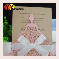 Cute Fancy Ballet Girl Pocket Wedding Invitation Cards Model And Greeding Cards With Ribbon Of