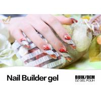 China Painless Hard Gel Nails , Stronger UV Led Builder Gel to Extend Nails wholesale