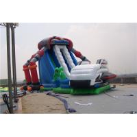 China Castle Style Bounce House Water Slide Combo Rentals , double lane water slide wholesale