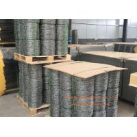 China Double Twisted Steel Barbed Wire Mesh For Protect Fencing , 14 Gauge Gal. wholesale