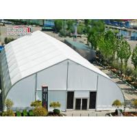 China Heat Resistant TFS Tents With Fire Retardant White PVC Fabric For Events wholesale