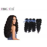 China Deep Curly Unprocessed Remy Hair Extensions Weave For Black Woman 350g wholesale