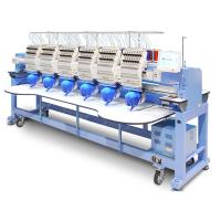 China Popular Multi Head Computer Embroidery Machine Bed Sheets T Shirt Socks Clothes Use on sale
