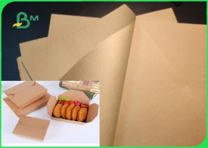 China Wood Pulp 40gsm 50gsm Brown Kraft Paper For Shopping Bag Tear Resistance on sale
