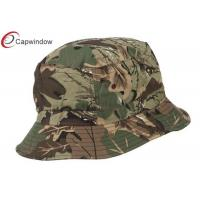 Quality Camo Airborne Embroidered Cool Bucket Hats with Pure Washed Cotton for sale
