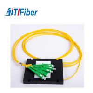 China 1X4 ABS Coupler Fiber Optic Splitter Plc 2.0mm Cable SC/APC PC UPC Connector wholesale