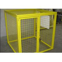 China Multi Colors Flammable Storage Cage , Gas Bottle Safety Cages Removable wholesale