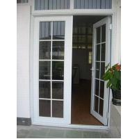 China White Aluminium Glass Doors / Tempered Interior Glass Door With Hinge wholesale