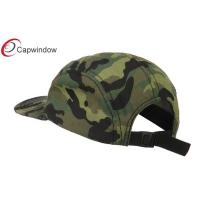 Quality Camo Cotton Brushed Canvas Camo 5 Panel Camper Cap / Hand Wash Only for sale