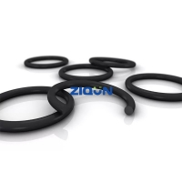 China HBTS Hydraulic Cylinder PTFE 80 Shore Black Rubber O Rings wholesale