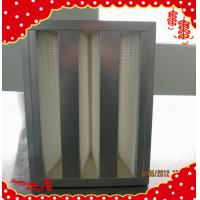 China 610x305x292mm galvanized frame high flow rigid compact v bank hepa filter wholesale