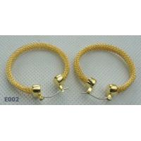 China Newest bronze plated zirconia stud earring in 2012 wholesale