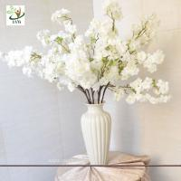 China UVG 1m white artificial cherry blossom branches wholesale with silk flowers for weddings on sale