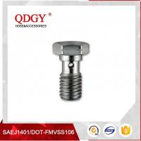 China STAINLESS STEEL MATERIAL BRAKE HOSE FITTINGS  SINGLE BANJO BOLT M10 X 1.5 wholesale