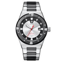 China Silver Automatic Mens Wrist Watches , Stainless Steel Waterproof Automatic Watch wholesale