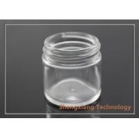 China 25ml clear screw neck glass jar for cosmetics packaging , D43mm×H43mm wholesale