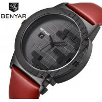 China BENYAR BY-5117 Men Leather Strap 3 ATM Waterproof Fashion Sport Watches wholesale