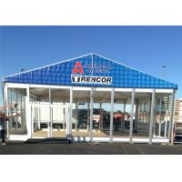 China 20m * 20m Large Temporary Outdoor Glass Wall Tents Exhibition Marquee wholesale