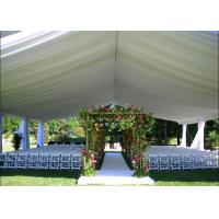 China 200 People Luxury Outdoor Wedding Tent With Decorations Water Retardant PVC Fabric wholesale