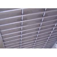 China Plain Bar Stainless Bar Grating , Anti Corrosive Floor Grates Stainless Steel wholesale