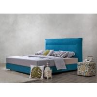 China Fabric Upholstered Headboard Bed SOHO Apartment Bedroom interior fitout Leisure Furniture wholesale