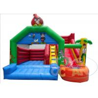 China Funny Childrens Bouncy Castle With Slide / Inflatable Bounce House For Kids wholesale
