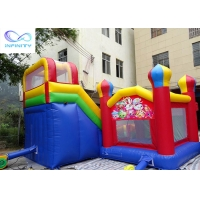China Anti Mildew Outdoor Backyard Inflatable Jumping Castle With Slide wholesale