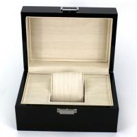 China Rectangle Highend Jewelry Wooden Box With Silk Screen Printing Logo wholesale
