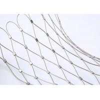China 7 X 7 Wire Rope Netting , Stainless Steel Rope Mesh For Aviary Zoo Enclosure on sale