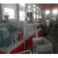 China Conical Two Screw Extruder , Wood Plastic Composite / PVC Extruder wholesale