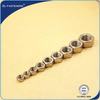 China S304 / SS316 Carbon Steel Hex Nut Natural Color Various Sizes / Colors wholesale
