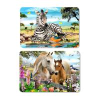 China Decorative Animal PET 3D Lenticular Plastic Table Mats Offset Printing wholesale