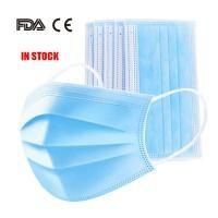 China Latex Free 3 Ply Disposable Face Mask , Non Woven Fabric Mask CE FDA Certificated wholesale