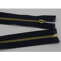 China 12 Inch Metal Separating Zipper Black Polyester Tape For Trousers / Hometextile / wholesale