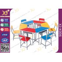 Buy cheap Multi Functional Combination Student Desk And Chair Set With Steel Drawer / Classroom Furniture from wholesalers