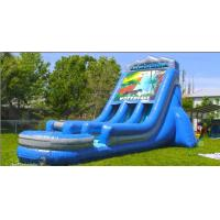 China Commercial grade water inflatable slides 22' waterfall slide wholesale
